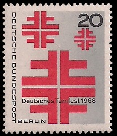 20 Pf Briefmarke: Deutsches Turnfest