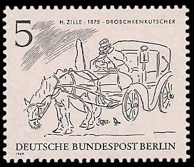 5 Pf Briefmarke: Zeichnungen: Berliner im 19. Jh.