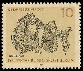 10 Pf Briefmarke: 125 Jahre Berliner Zoo