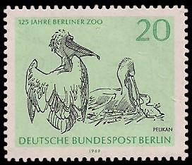 20 Pf Briefmarke: 125 Jahre Berliner Zoo