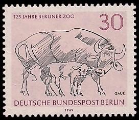 30 Pf Briefmarke: 125 Jahre Berliner Zoo