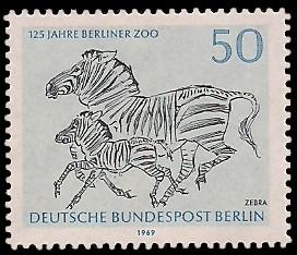 50 Pf Briefmarke: 125 Jahre Berliner Zoo
