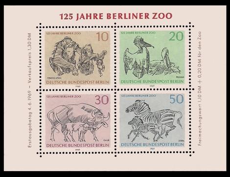 1,30 DM Briefmarke: Block: 125 Jahre Berliner Zoo