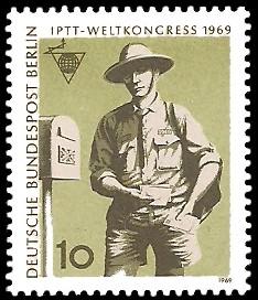 10 Pf Briefmarke: IPTT Weltkongress 1969