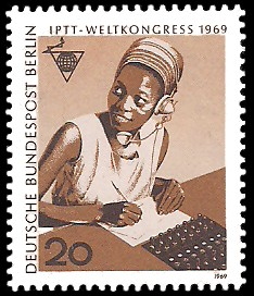 20 Pf Briefmarke: IPTT Weltkongress 1969