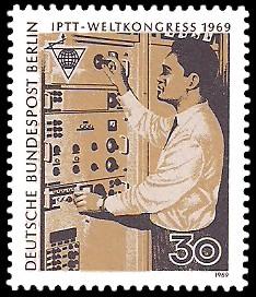 30 Pf Briefmarke: IPTT Weltkongress 1969