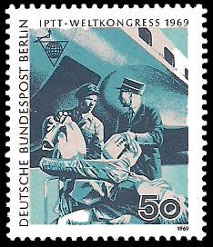 50 Pf Briefmarke: IPTT Weltkongress 1969