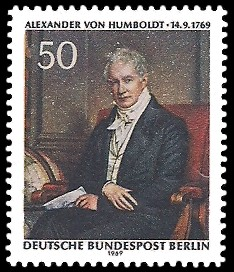 50 Pf Briefmarke: 200.Geburtstag A.v.Humboldt
