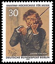 30 Pf Briefmarke: 100 Jahre Hochschule für Musik