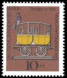 10 + 5 Pf Briefmarke: Wohlfahrtsmarke 1969, Zinnfiguren