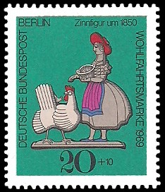 20 + 10 Pf Briefmarke: Wohlfahrtsmarke 1969, Zinnfiguren