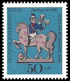 50 + 25 Pf Briefmarke: Wohlfahrtsmarke 1969, Zinnfiguren