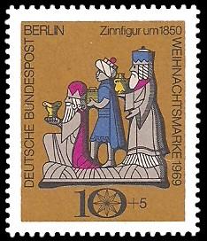 10 + 5 Pf Briefmarke: Weihnachtsmarke 1969