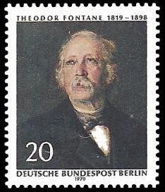 20 Pf Briefmarke: 150. Geburtstag Theodor Fontane