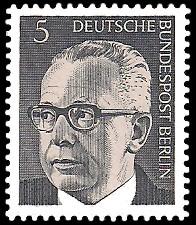 5 Pf Briefmarke: Bundespräsident Gustav Heinemann
