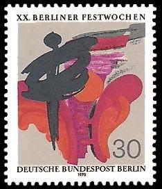 30 Pf Briefmarke: Berliner Festwochen