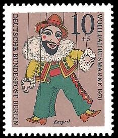 10 + 5 Pf Briefmarke: Wohlfahrtsmarken 1970, Marionetten