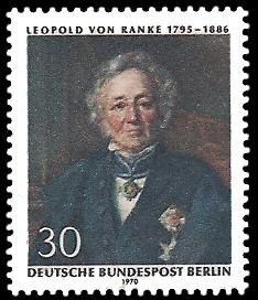 30 Pf Briefmarke: 175. Geburtstag Leopold von Ranke