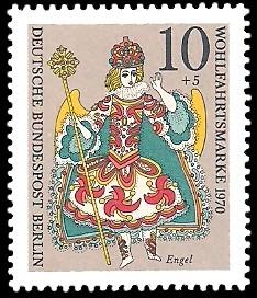 10 + 5 Pf Briefmarke: Weihnachtsmarke, Wohlfahrtsmarke 1970