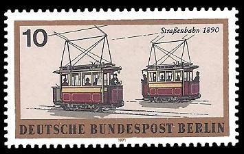 10 Pf Briefmarke: Berliner Verkehrsmittel, Schienenfahrzeuge