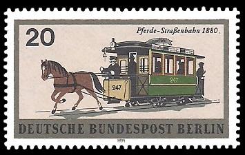 20 Pf Briefmarke: Berliner Verkehrsmittel, Schienenfahrzeuge