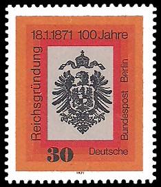 30 Pf Briefmarke: 100 Jahre Reichsgründung