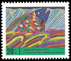 20 + 10 Pf Briefmarke: Jugendmarke 1971
