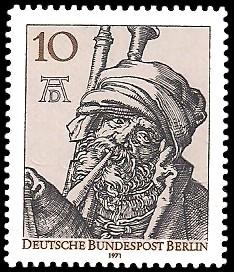 10 Pf Briefmarke: 500. Geburtstag von Albrecht Dürer