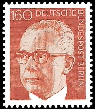 160 Pf Briefmarke: Bundespräsident Gustav Heinemann