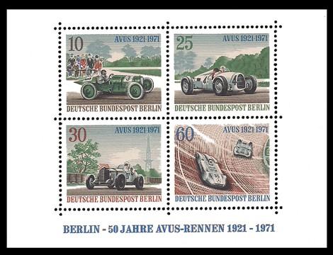 Briefmarke: Block: 50 Jahre AVUS