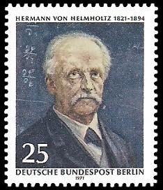25 Pf Briefmarke: 100. Geburtstag Hermann von Helmholtz