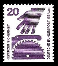 20 Pf Briefmarke: Jederzeit Sicherheit