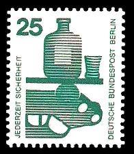 25 Pf Briefmarke: Jederzeit Sicherheit