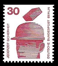 30 Pf Briefmarke: Jederzeit Sicherheit