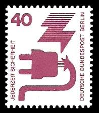 40 Pf Briefmarke: Jederzeit Sicherheit