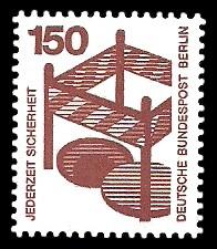 150 Pf Briefmarke: Jederzeit Sicherheit
