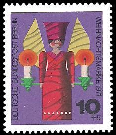 10 + 5 Pf Briefmarke: Weihnachtsmarke 1971
