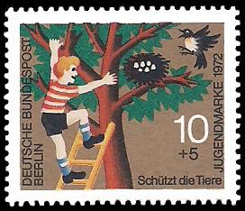 10 + 5 Pf Briefmarke: Jugendmarke 1972