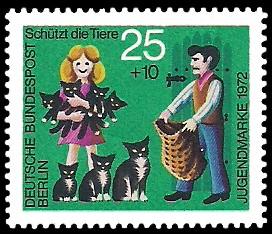 25 + 10 Pf Briefmarke: Jugendmarke 1972