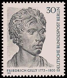 30 Pf Briefmarke: 200. Geburtstag Friedrich Gilly