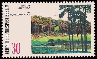 30 Pf Briefmarke: Gemälde - Berliner Seen