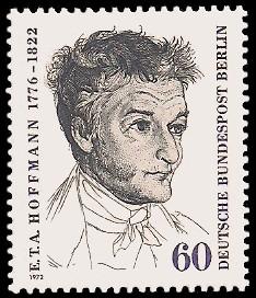 60 Pf Briefmarke: 150. Todestag von E.T.A.Hoffmann