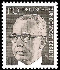 110 Pf Briefmarke: Bundespräsident Gustav Heinemann