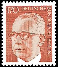 170 Pf Briefmarke: Bundespräsident Gustav Heinemann
