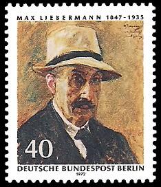 40 Pf Briefmarke: 125. Geburtstag Max Liebermann