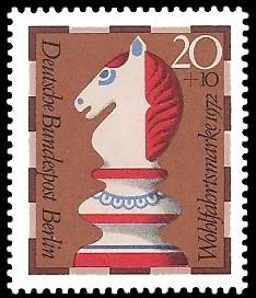 20 + 10 Pf Briefmarke: Wohlfahrt, Schachfiguren