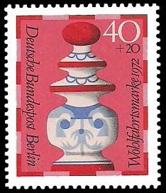 40 + 20 Pf Briefmarke: Wohlfahrt, Schachfiguren