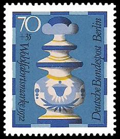 70 + 35 Pf Briefmarke: Wohlfahrt, Schachfiguren