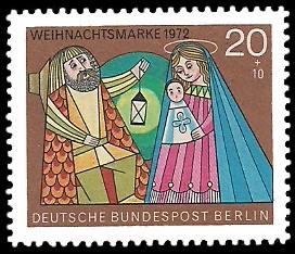 20 + 10 Pf Briefmarke: Weihnachtsmarke 1972