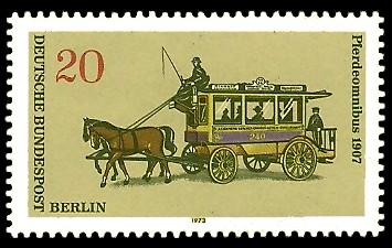 20 Pf Briefmarke: Berliner Omnibusse